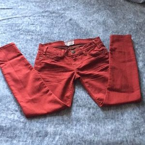 Current/Elliot Rodeo Red Skinny Jeans, Size 0 (24)